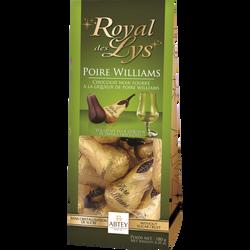 Chocolats fourrés à la liqueur de poire William royal des lys ABTEY, x9 soit 180g