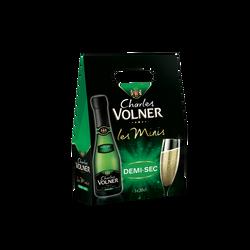 Vin mousseux demi-sec CHARLES VOLNER, 3 bouteilles de 20cl