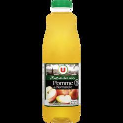 """Pur jus de pomme de Normandie """"fruits de chez nous"""" U, bouteille de 1l"""