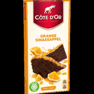 Chocolat noir orange COTE D'OR FRUIT, tablette de 130g