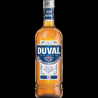 Pastis DUVAL, 45°, bouteille de 1l