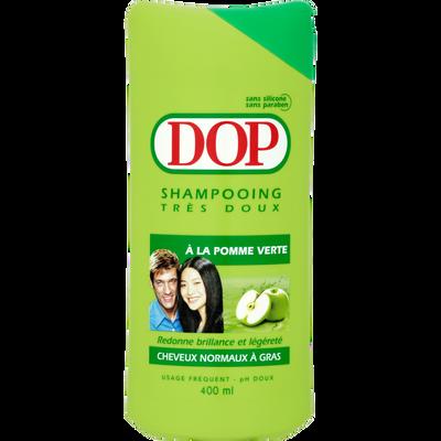 Shampoing à la pomme verte pour cheveux normaux à gras DOP, flacon de400ml