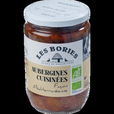 Aubergines cuisinées façon méditerranéenne BIO LES BORIES, 585g