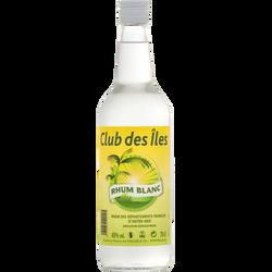 Rhum traditionnelle blanc départements français outre mer,40°, bouteille de 70cl