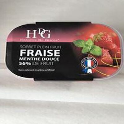 Sorbet Fraise Menthe douce GINEYS