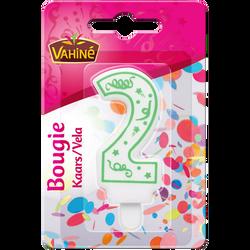 Bougies d'anniversaire chiffre n°2 VAHINE