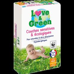 Couches écologiques hypoallergéniques taille 3 LOVE&GREEN, x52