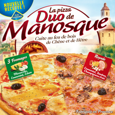 Pizza duo LA PIZZA DE MANOSQUE, 400g