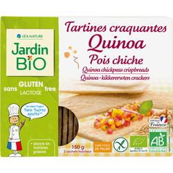 Tartines craquantes quinoa/pois chiches JARDIN BIO 150g