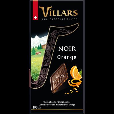 Dégustation chocolat noir orange VILLARS, tablette de 100g