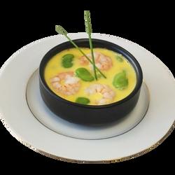 Cassolette de gambas patate douce sauce sabayon, x2, 200g