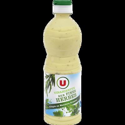 Vinaigrette allégée en matières grasses aux fines herbes U, bouteillede 50cl