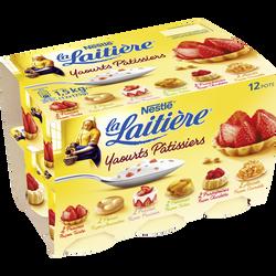 Yaourts aux Fruits Pâtissiers LA LAITIERE, 12x125g