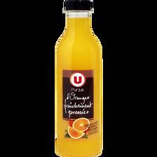 Pur jus d'orange fraîchement pressé U, bouteille de 75cl