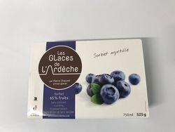 Sorbet Myrtille, Les glaces de l'Ardèche 525g