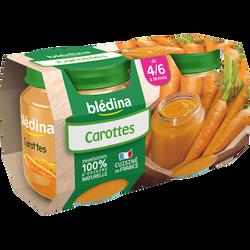Pot pour bébé à la carottes BLEDINA, dès 4-6 mois, 2x130g