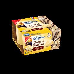 Dessert lacté crème vanille LA LAITIERE, 4x115g