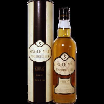 Whisky single malt WAMBRECHIES, 5ans, 40°, bouteille de 70cl