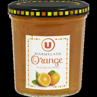 Marmelade d'orange 28% de fruits U, bocal de 370g