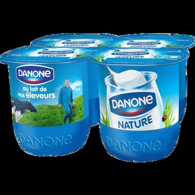 Yaourt le nature DANONE, 4x125g
