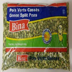 Pois verts cassés BINA, 500g