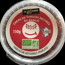Crème de tomates séchées au basilic, BIO, pot 150g