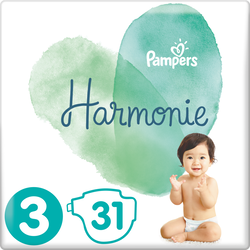 Couches harmonie taille 3 6-10kg  PAMPERS, x31