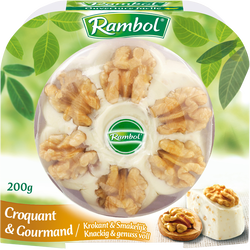 Fromage fondu au lait pasteurisé  au noix 30% de matière grasse RAMBOL, 200g