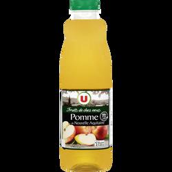 """Pur jus de pomme de Nouvelle Aquitaine """"fruits de chez nous"""" U, bouteille de 1l"""