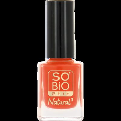 Vernis à ongles, soin et couleur, à l'huile de ricin biologique 08 orange pop - Sans étui