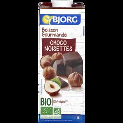 Boisson gourmande choco noisettes bio BJORG, brique de 1 litre
