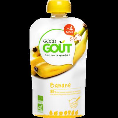 Gourde banane bio dès 4 mois GOOD GOUT, 120g