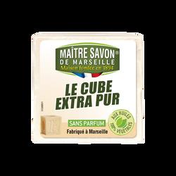 Savon de Marseille traditionnel pur blanc MAÎTRE SAVON DE MARSEILLE, 300g
