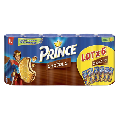 Prince au chocolat LU, 6 paquets de 300g