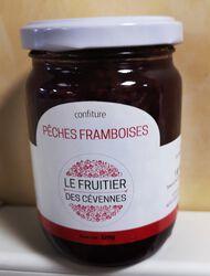 Confiture pêches framboises, Le Fruitier des Cévennes, 320g