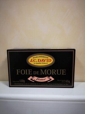 FOIE DE MORUE FUME DAVID 120G