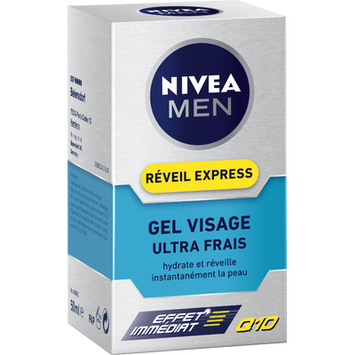 Gel hydratant visage Réveil Express Q10 NIVEA FOR MEN, 50ml