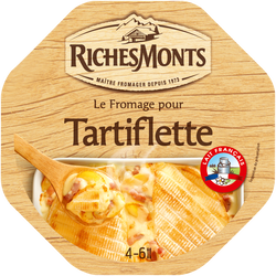 Fromage pasteurisé pour tartiflette RICHE MONTS, 28%mg, 450g