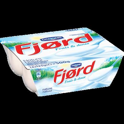 Spécialité laitière nature FJORD, 4 unités de 125g