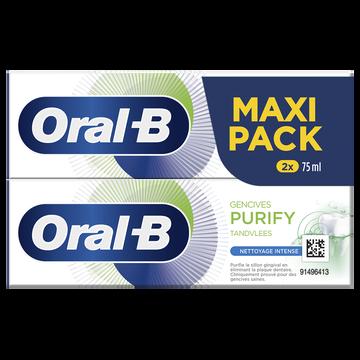 Oral B Dentifrice Gencives Purify Nettoyage Intense Oral-b 2x75ml