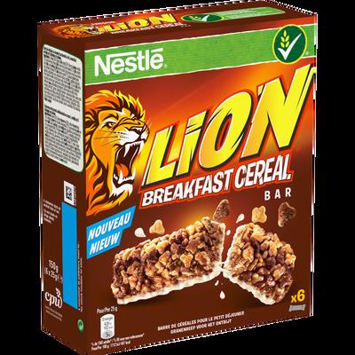 Barres de céréales LION, 6 unités de 25g