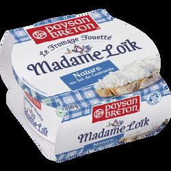 Fromage fouetté pasteurisé Madame Loïk sel de Guérande PAYSAN BRETON,24% de MG, 150g