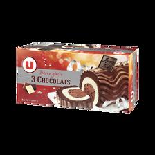 Bûche glacée aux 3 chocolats U, 507g
