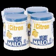Malo Empres.yaourt Au Lait Entier Aromatisé Citron Malo, Pot Carton 4x125g