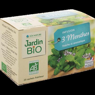 Infusion trois menthes bio JARDIN BIOLOGIQUE 30g