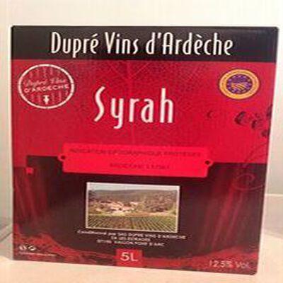 Vin Rouge IGP Ardèche SYRAH DUPRE 5L