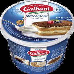 Mascarpone au lait pasteurisé GALBANI, 41%mg, 500g