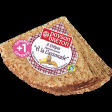 Paysan Breton Crêpes Saveur Bretonne Sucrées À La Cassonade , Paquet De8 +1gratuite, 321g