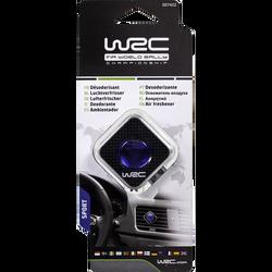 Désodorisant membrane senteur sport WRC motif carbone pour aérateur,à fixer sur l'aérateur, grâce à la pince au dos