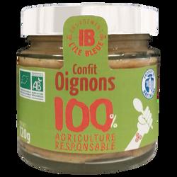 Confit d'oignons bio L'ILE BLEUE, bocal de 120g
